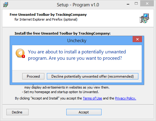 Unchecky software