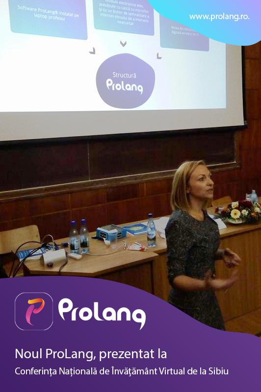 Noul ProLang, prezentat la Conferința Națională de Învățământ Virtual de la Sibiu
